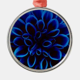 Blue Dahlia Metal Ornament