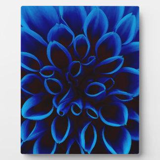 Blue Dahlia Plaque
