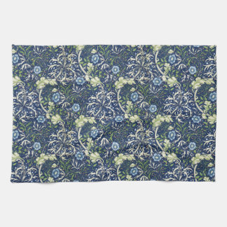 Blue Daisies by William Morris Kitchen Towel