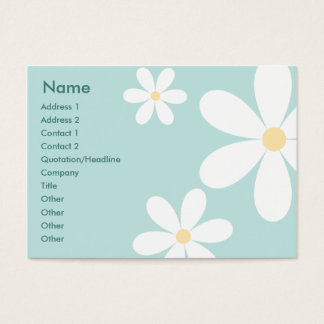 Blue Daisies - Chubby Business Card