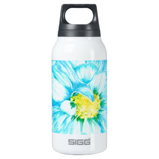 Blue Daisies Insulated Water Bottle
