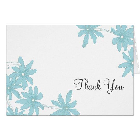 Blue Daisies Thank You Card