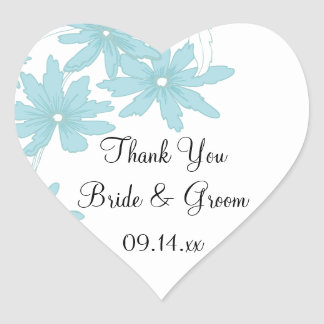 Blue Daisies Wedding Thank You Favor Tags