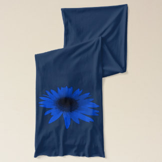 Blue Daisy Blue Scarf