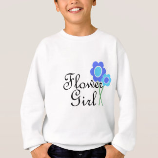 Blue Daisy Flower Girl Sweatshirt