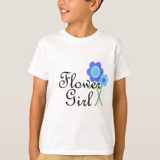 Blue Daisy Flower Girl T-Shirt