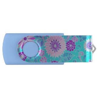 Blue Daisy Print USB Flash Drive