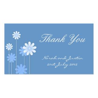 Blue Daisy Wedding Thank You Card Business Card