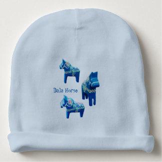 Blue Dala Horse Cotton Baby Beanie