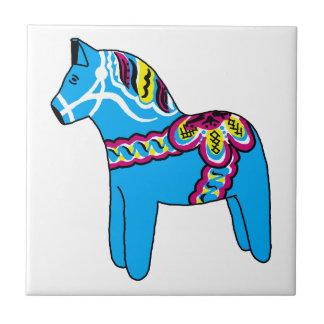 Blue Dala Horse Tile