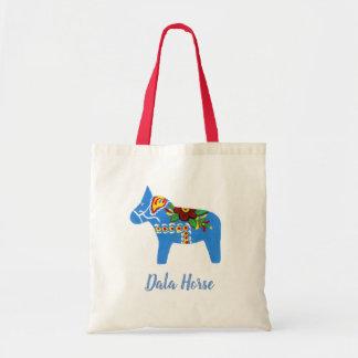 Blue Dala Horse Tote Bag