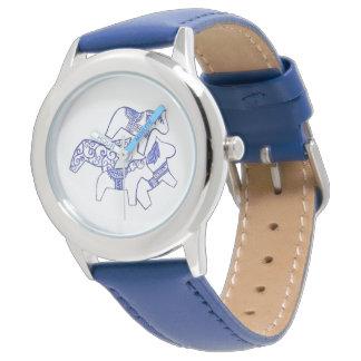 Blue Dala Horse Wrist Watch