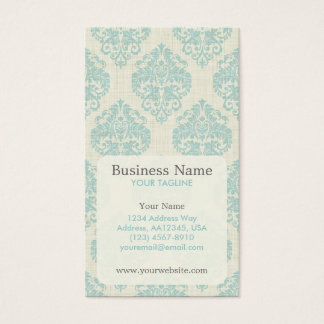 Blue Damask Appointment Business Card