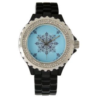 Blue Damask Fashion Watch