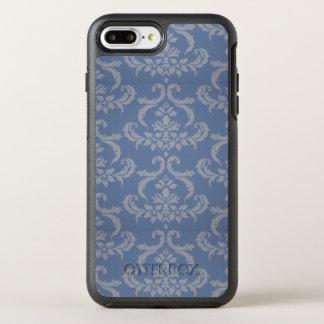 Blue Damask Flowers OtterBox Symmetry iPhone 8 Plus/7 Plus Case