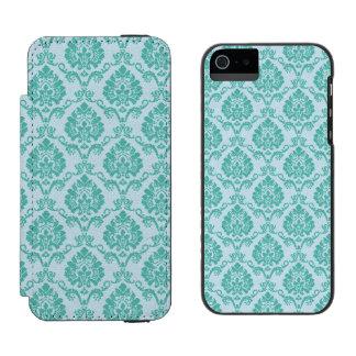 Blue Damask Incipio Watson™ iPhone 5 Wallet Case