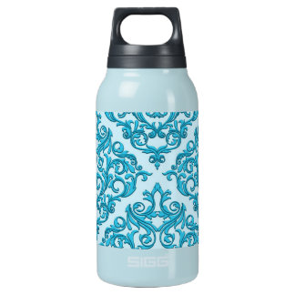 Blue Damask Insulated Water Bottle