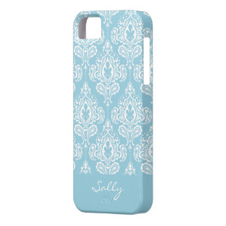 Blue Damask iPhone 5 Cover
