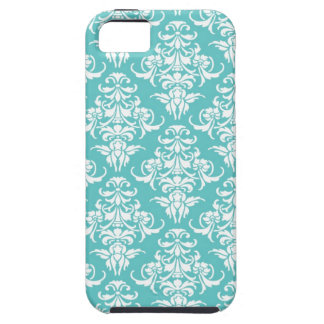 Blue damask pattern vintage girly chic chandelier iPhone 5 case