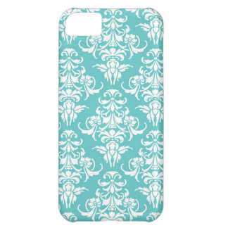 Blue damask pattern vintage girly chic chandelier iPhone 5C covers