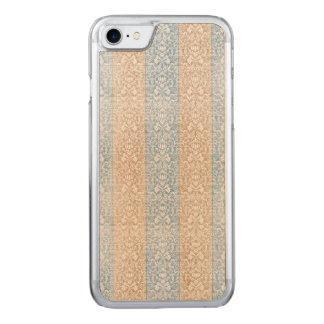 Blue Damask Ribbon Candy Stripes Kawaii Lines Carved iPhone 8/7 Case
