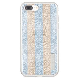 Blue Damask Ribbon Candy Stripes Kawaii Lines Incipio DualPro Shine iPhone 8 Plus/7 Plus Case