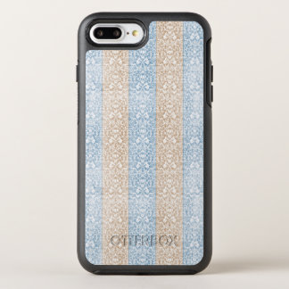 Blue Damask Ribbon Candy Stripes Kawaii Lines OtterBox Symmetry iPhone 8 Plus/7 Plus Case