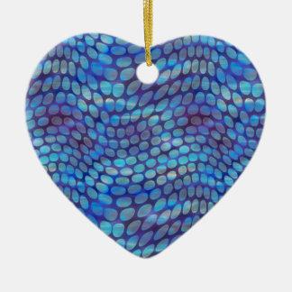 Blue Dance Floor Ceramic Ornament