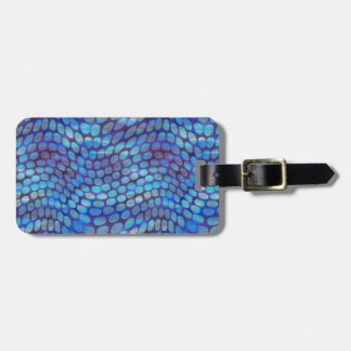 Blue Dance Floor Luggage Tag