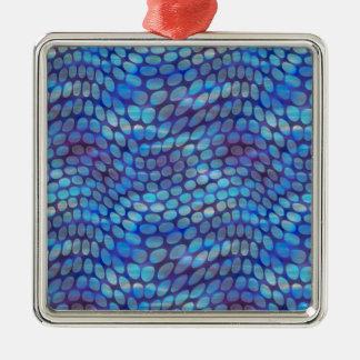 Blue Dance Floor Metal Ornament