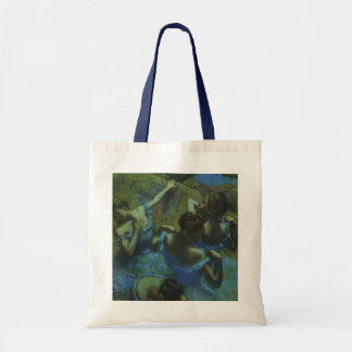Blue Dancers by Edgar Degas, Vintage Impressionism Canvas Bag