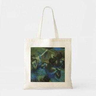 Blue Dancers by Edgar Degas, Vintage Impressionism Budget Tote Bag