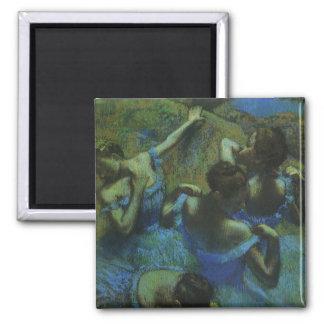Blue Dancers by Edgar Degas, Vintage Impressionism Magnet