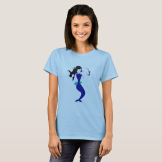 Blue dancing Mermaid girls t-shirt