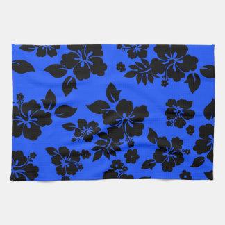 Blue Dark Hawaiian Hand Towel