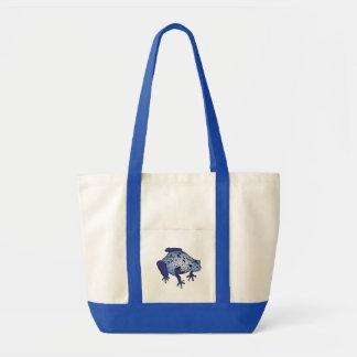 Blue Dart Frog Impulse Tote Bag