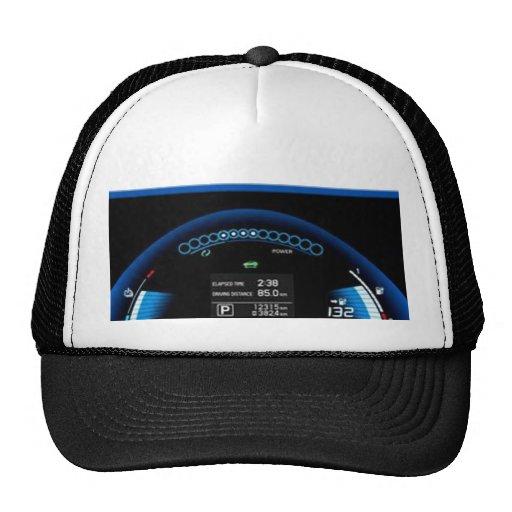 Blue Dashlight on Black Border Mesh Hats