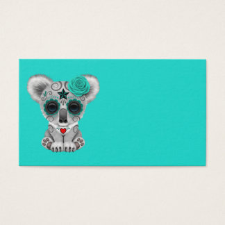 Blue Day of the Dead Baby Koala Business Card
