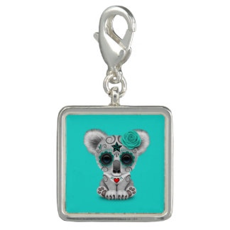 Blue Day of the Dead Baby Koala Charms