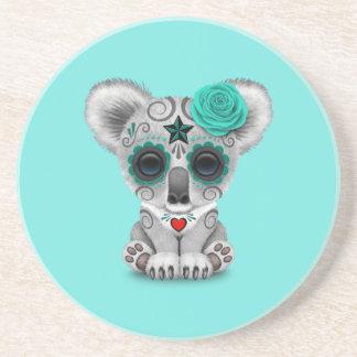 Blue Day of the Dead Baby Koala Coaster