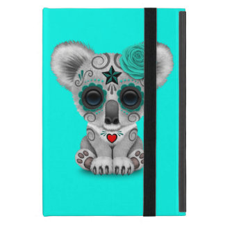 Blue Day of the Dead Baby Koala Cover For iPad Mini