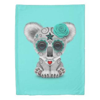 Blue Day of the Dead Baby Koala Duvet Cover