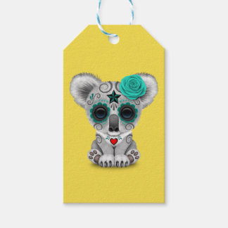 Blue Day of the Dead Baby Koala Gift Tags