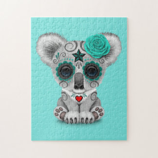 Blue Day of the Dead Baby Koala Jigsaw Puzzle