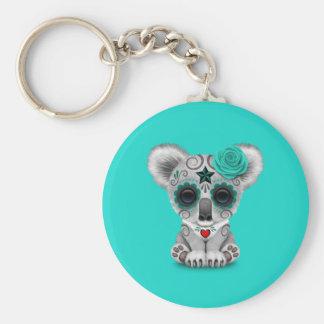 Blue Day of the Dead Baby Koala Keychain