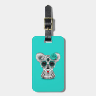 Blue Day of the Dead Baby Koala Luggage Tag