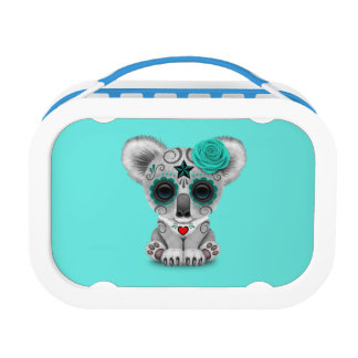 Blue Day of the Dead Baby Koala Lunch Box