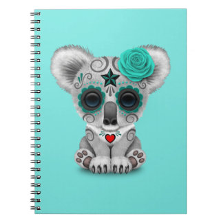 Blue Day of the Dead Baby Koala Notebook