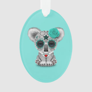 Blue Day of the Dead Baby Koala Ornament