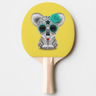 Blue Day of the Dead Baby Koala Ping Pong Paddle
